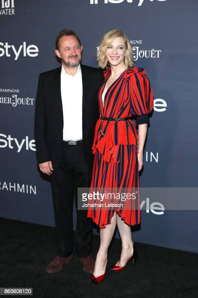 Andrew Upton and honoree Cate Blanchett at the 2017 InStyle Awards presented in partnership with FIJI WaterAssignment at The Getty Center on October...