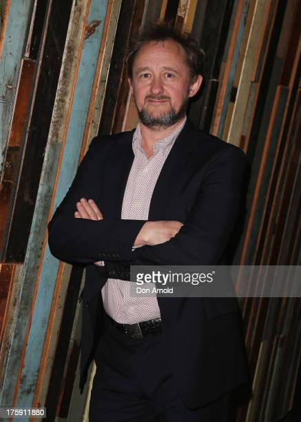 Andrew Upton arrives at the opening night of Rosencrantz Guildenstern are Dead at the Sydney Theatre Company on August 10 2013 in Sydney Australia