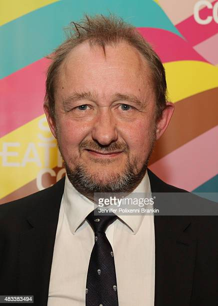 Andrew Upton arrives at the opening night of 'The Present' at Sydney Theatre Company on August 8 2015 in Sydney Australia