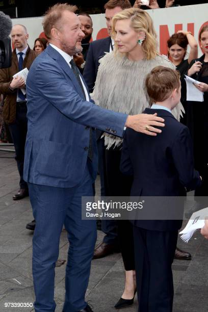 Andrew Upton, Cate Blanchett and Ignatius Martin Upton attend the 'Ocean's 8' UK Premiere held at Cineworld Leicester Square on June 13, 2018 in...
