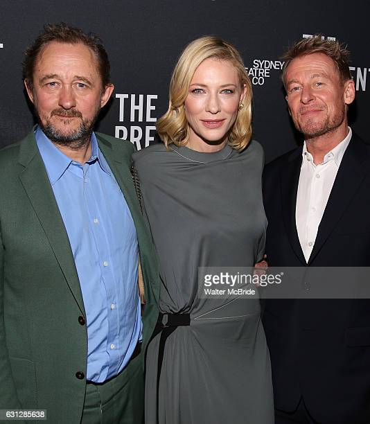 Andrew Upton Cate Blanchett Richard Roxburgh attend the Broadway Opening Night After Party for 'The Present' at the Bryant Park Grill on January 8...