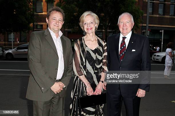 Andrew Upton with GovernorGeneral of Australia Quentin Bryce and husband Michael Bryce attend the opening night of 'Uncle Vanya' at Sydney Theatre on...