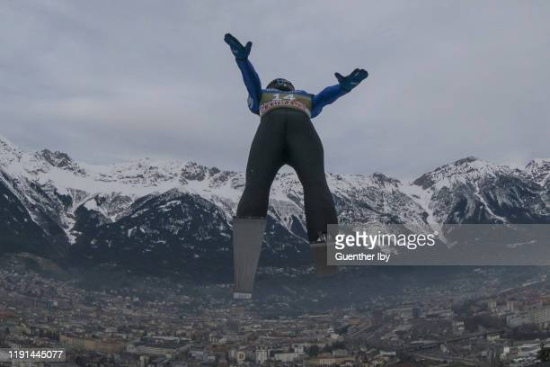 Andrew Urlaub of the United States during the training on day 5 of the 68th FIS Nordic World Cup Four Hills Tournament ski jumping event at Bergisel...