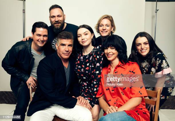 Andrew van den Houten Greg Newman Lauryn Canny Halyna Hutchins Pollyanna McIntosh and NoraJane Noone of the film 'Darlin'' pose for a portrait in the...