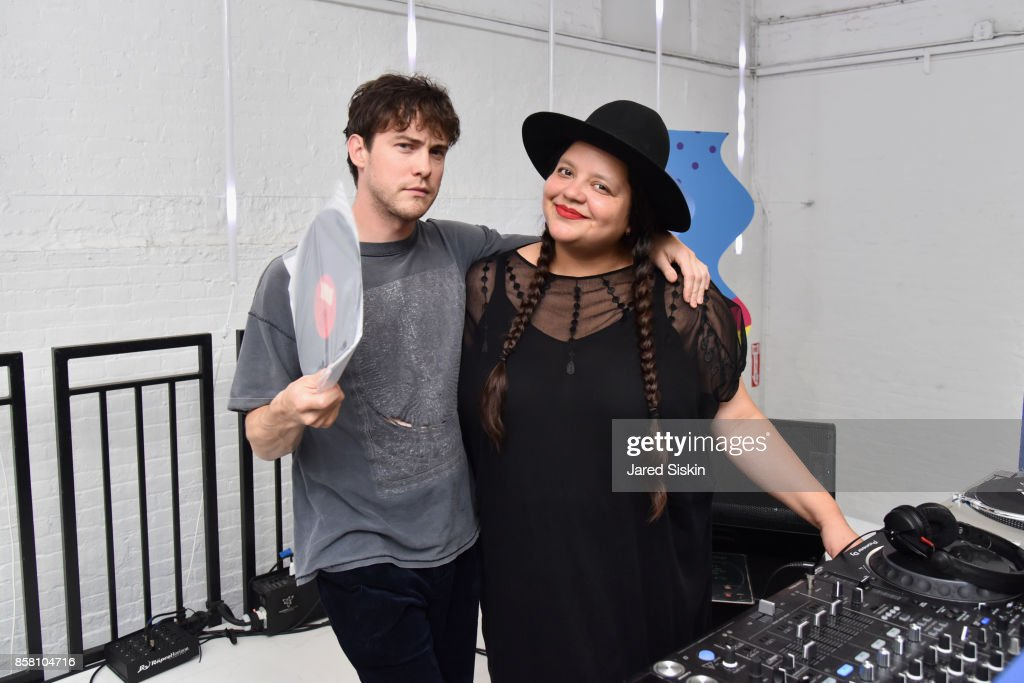 Andrew VanWyngarden and Ana Calderon General view at The House of Peroni on October 5, 2017 in New York City.