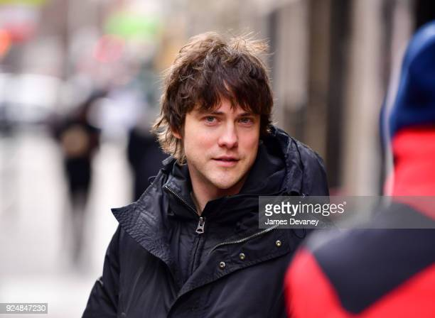 Andrew VanWyngarden leaves 'The Late Show With Stephen Colbert' at the Ed Sullivan Theater on February 26 2018 in New York City