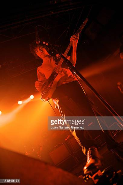 Andrew VanWyngarden of MGMT performs at La Riviera on December 17 2010 in Madrid Spain