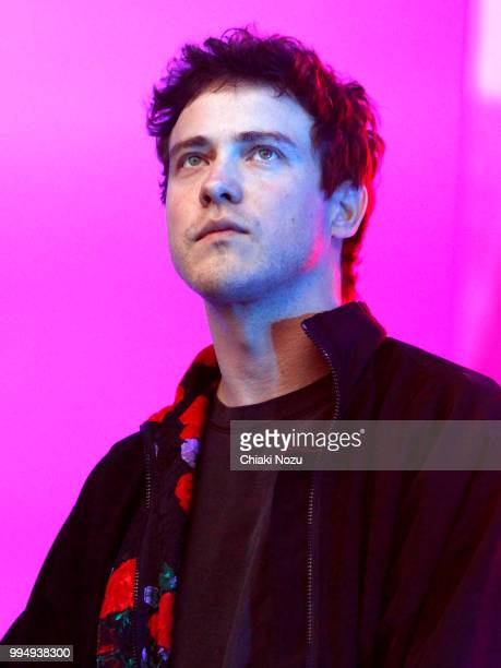 Andrew VanWyngarden of MGMT performs at Somerset House on July 9 2018 in London England