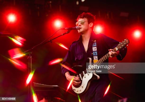 Andrew VanWyngarden of MGMT performs during the 2017 Panorama Music Festival Day 1 at Randall's Island on July 28 2017 in New York City