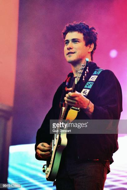 Andrew VanWyngarden of MGMT performs on stage at Somerset House Summer Series on July 9 2018 in London England