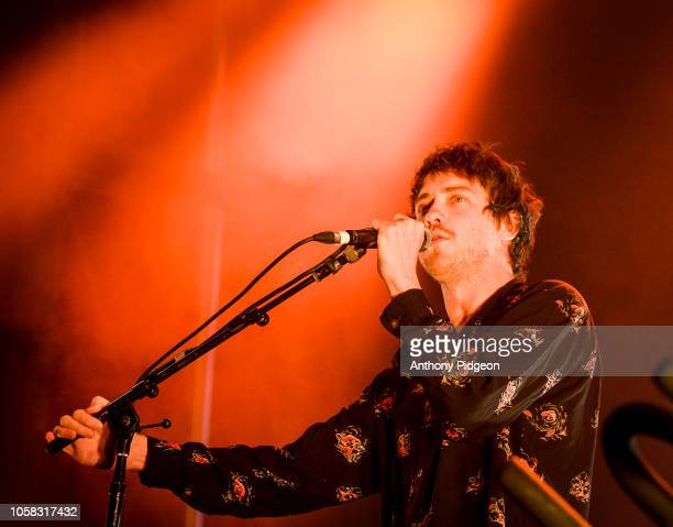 Andrew VanWyngarden of MGMT performs on stage at the 94/7 Electric Picnic at Hillsboro Stadium in Hillsboro Oregon on 3rd September 2018