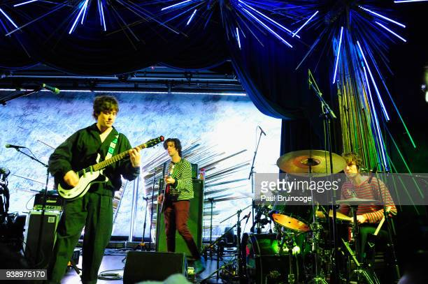 Andrew VanWyngarden Will Berman and Matt Asti of MGMT perform onstage at the Sony Hall Grand Opening Event on March 27 2018 in New York City