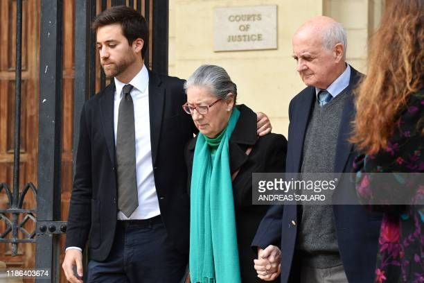 Andrew Vella RoseMarie Vella and Michael Vella the son mother and father of murdered journalist Daphne Caruana Galicia leave the Courts of Justice on...