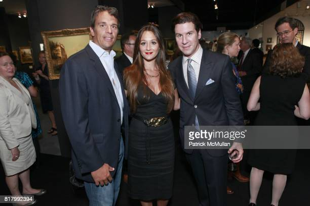 Andrew Vissicchio Alexandra Osipow Peter Davis attend the AVENUE ANTIQUES ART AT THE ARMORY Celebrates With An Opening Night Preview on September 29...