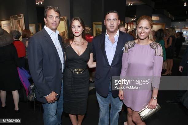 Andrew Vissicchio Alexandra Osipow William Kritsek Jr Anisha Lakhani attend the AVENUE ANTIQUES ART AT THE ARMORY Celebrates With An Opening Night...