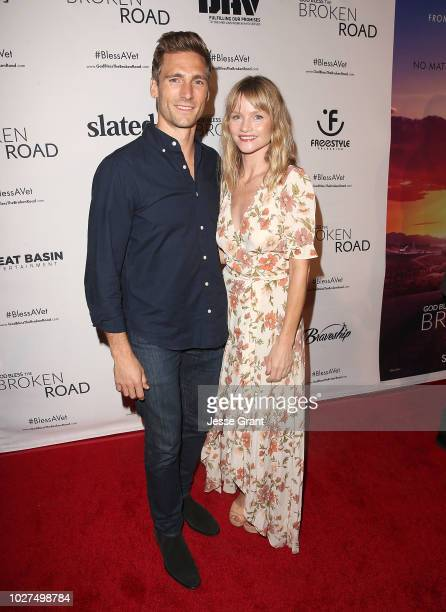 Andrew Walker and Lindsay Pulsipher attend the God Bless The Broken Road Premiere at Silver Screen Theater at the Pacific Design Center on September...