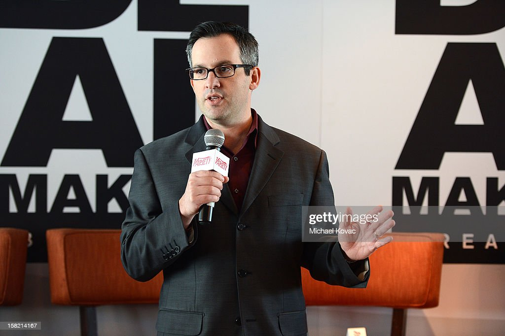 Andrew Wallenstein, TV Editor, Variety speaks during Variety's Dealmakers Breakfast presented by Bank Of America at Soho House on December 11, 2012 in West Hollywood, California.