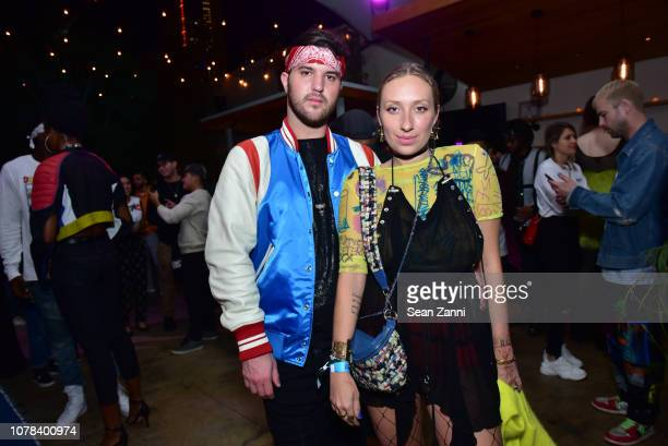 Andrew Warren and Gaia Jacquet Matisse attends 'Diesel x Boiler Room Another Basel Event' at 1306 Miami on December 06 2018 in Miami Florida