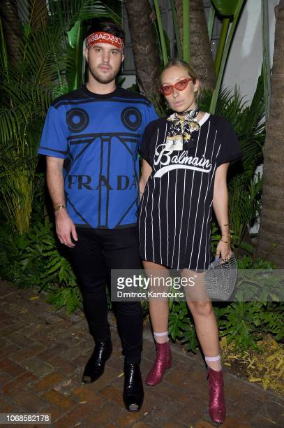 Andrew Warren and Gaia Matisse attend day one of Prada Mode Miami at Freehand Miami on December 4 2018 in Miami Florida