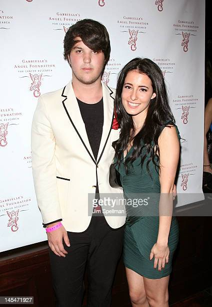 Andrew Warren and singer Tiffany Giardina attend the 2012 Millennial Ball To Benefit Gabrielle's Angel Foundation For Cancer Research at Lavo on May...