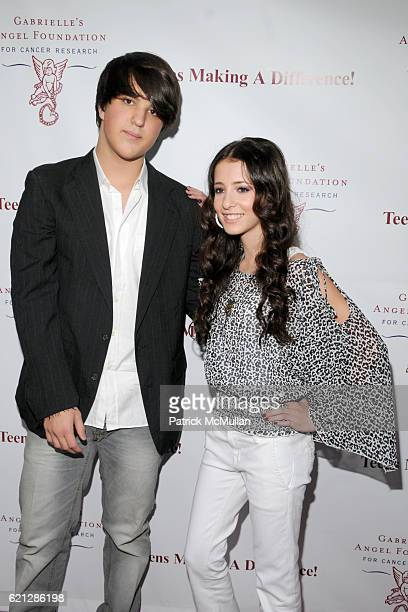 Andrew Warren and Tiffany Giardina attend Caribou Iced Coffee Presents TEENS MAKING A DIFFERENCE Event to benefit Gabrielle`s Angel Foundation for...