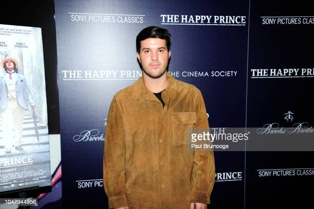 Andrew Warren attends The Cinema Society And Brooks Brothers Host The After Party For Sony Pictures Classics' 'The Happy Prince' at Mr C Seaport on...