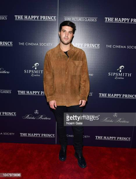 Andrew Warren attends 'The Happy Prince' New York screening at iPic Cinema on October 8 2018 in New York City
