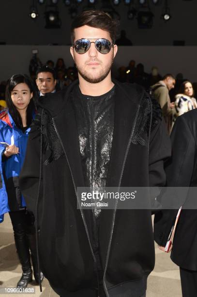 Andrew Warren attends the Taoray Wang front row during New York Fashion Week The Shows at Gallery II at Spring Studios on February 9 2019 in New York...