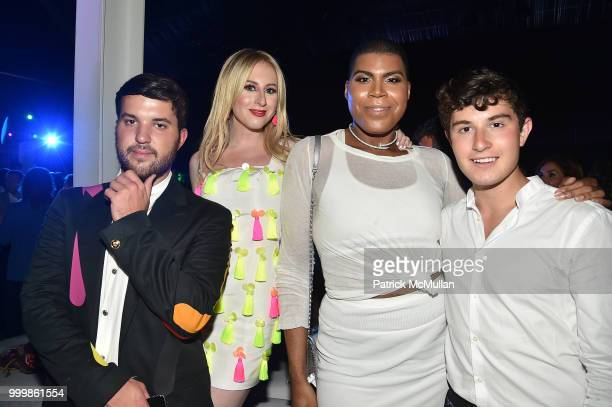 Andrew Warren Sydney Sadick EJ Johnson and Larry Milstein attend the Parrish Art Museum Midsummer Party 2018 at Parrish Art Museum on July 14 2018 in...