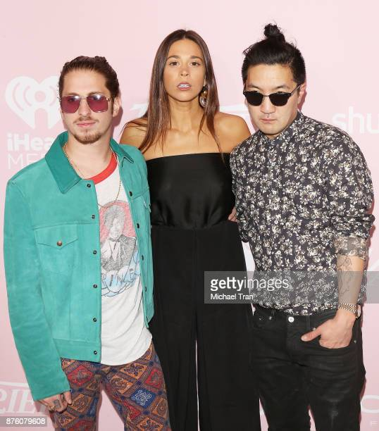 Andrew Watt Ali Tamposi and Brian Lee arrive at Variety's 1st Annual Hitmakers luncheon held at Sunset Tower on November 18 2017 in Los Angeles...