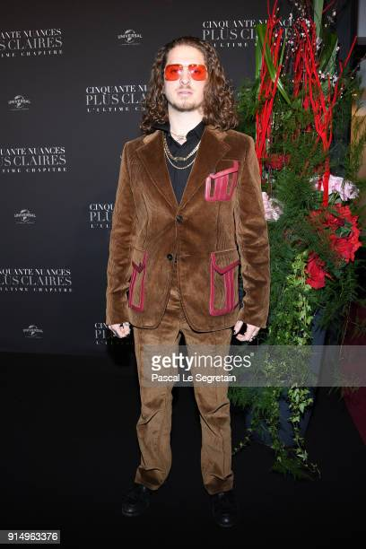 Andrew Watt attends 'Fifty Shades Freed 50 Nuances Plus Claires' Premiere at Salle Pleyel on February 6 2018 in Paris France