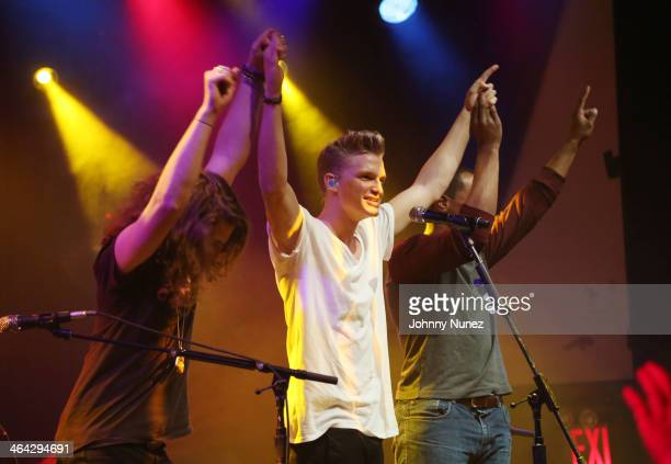 Andrew Watt Cody Simpson and Khari Mateen perform at Highline Ballroom on January 21 2014 in New York City