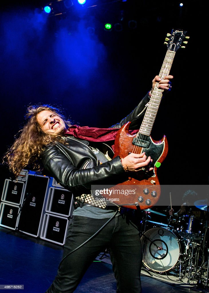 Andrew Watt of California Breed performs at The Fillmore Detroit on October 5, 2014 in Detroit, Michigan.