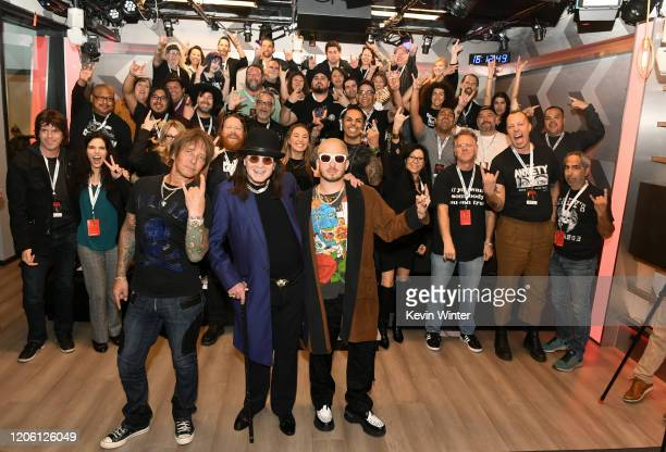 Andrew Watt, Ozzy Osbourne, Billy Morrison and guests attend the Ozzy Osbourne Album Special on SiriusXM's Ozzy's Boneyard Chanel at the SiriusXM...