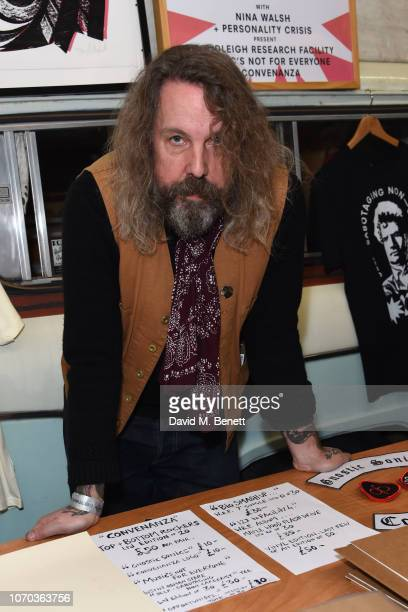 Andrew Weatherall attends the Art Car Boot Fair Christmas Wrap Party at The Workshop on December 9 2018 in London England