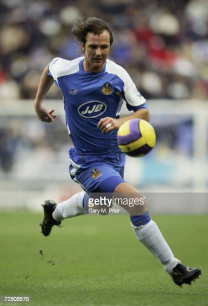 Andrew Webster of Wigan Athletic in action during the Barclays Premiership match between Wigan Athletic and Charlton Athletic at The JJB Stadium on...