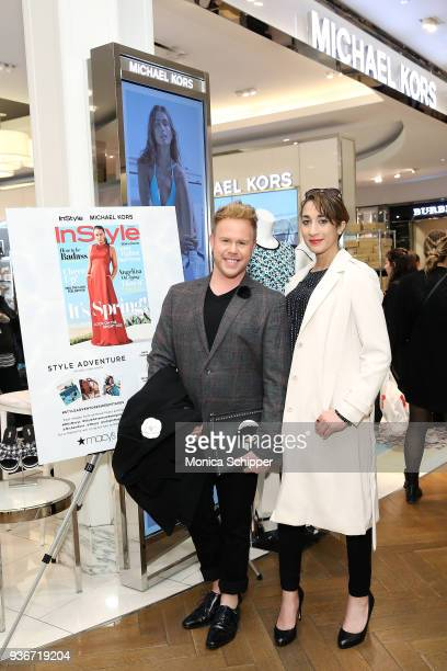 Andrew Werner and Christina Kaputsos attend the InStyle x Michael Kors Style Adventure At Macy's on March 22 2018 in New York City