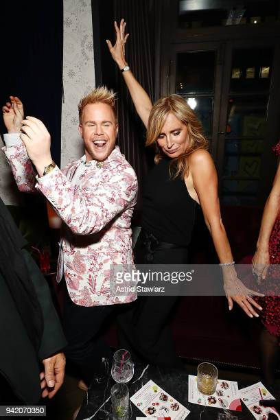 Andrew Werner and Sonja Morgan attend The Real Housewives of New York Season 10 premiere celebration at LDV Hospitality's The Seville produced by...
