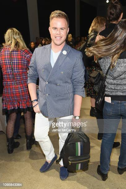 Andrew Werner attends the Chiara Boni La Petite Robe front row during New York Fashion Week The Shows at Gallery II at Spring Studios on February 8...