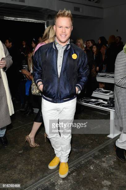 Andrew Werner attends the Fashion Hong Kong front row during New York Fashion Week The Shows at Industria Studios on February 9 2018 in New York City