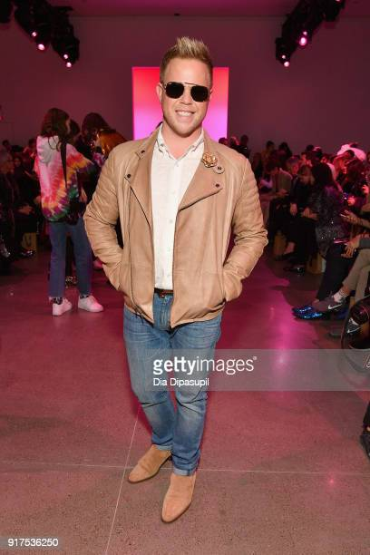 Andrew Werner attends the Libertine fashion show during New York Fashion Week The Shows at Gallery II at Spring Studios on February 12 2018 in New...
