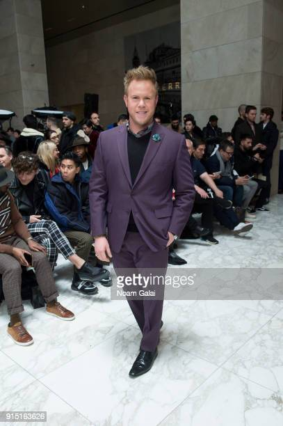 Andrew Werner attends the Perry Ellis fashion show during New York Fashion Week Mens' at The Hippodrome Building on February 6 2018 in New York City