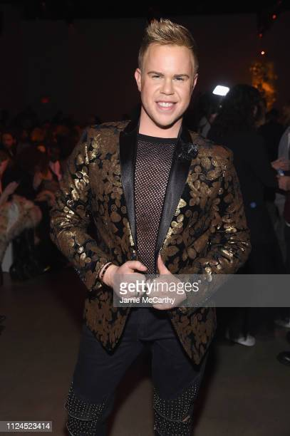 Andrew Werner attends the The Blonds front row during New York Fashion Week The Shows at Gallery I at Spring Studios on February 12 2019 in New York...