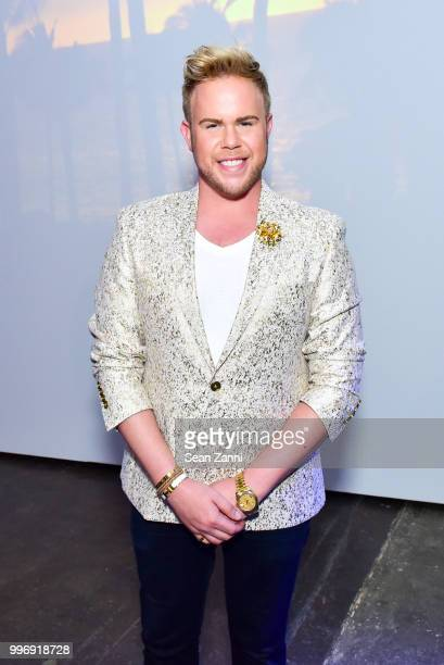 Andrew Werner attends the Todd Snyder S/S 2019 Collection during NYFW Men's July 2018 at Industria Studios on July 11 2018 in New York City