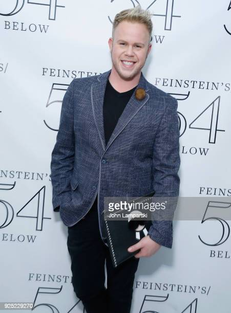 Andrew Werner poses backstage during the Luann De Lesseps cabaret debut at Feinstein's/54 Below on February 27 2018 in New York City
