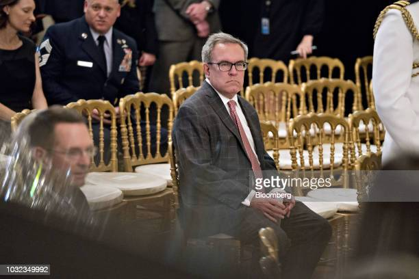 Andrew Wheeler acting administrator of the Environmental Protection Agency attends the Congressional Medal of Honor Society reception in the East...