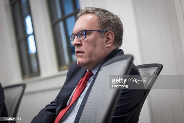 Andrew Wheeler acting administrator of the Environmental Protection Agency speaks during an interview in San Francisco California US on Monday Feb 4...