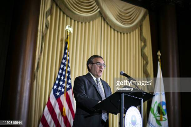 Andrew Wheeler, administrator of the U.S. Environmental Protection Agency , speaks before signing the Affordable Clean Energy Rule at EPA...