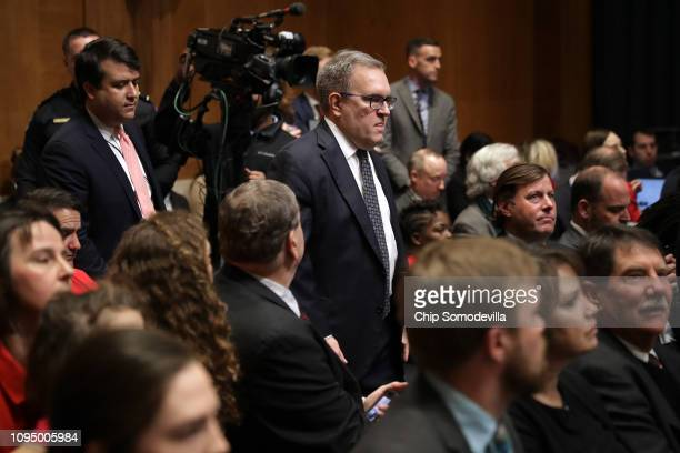 Andrew Wheeler arrives for his confirmation hearing to be the next administrator of the Environmental Protection Agency before the Senate Environment...