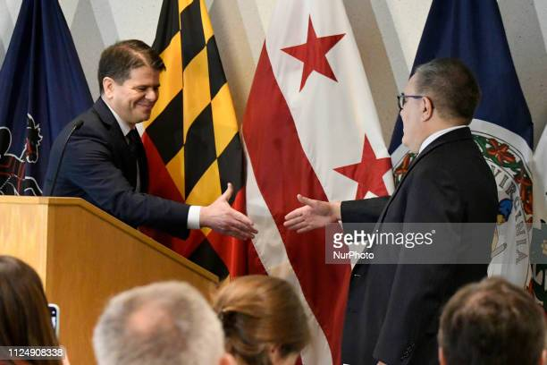 Andrew Wheeler EPA Acting Administrator and Cosmo Servidio EPA Regional Administrator announce the US Environmental Protection Agency Per and...
